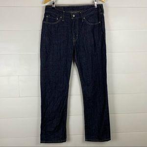 Levi's 514 33x30 dark wash slim straight jeans